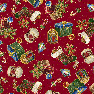 26628 R by 1//2 yard FABRIC Quilting Treasures ~ CHRISTMAS EVE ~ by Liz Dillon
