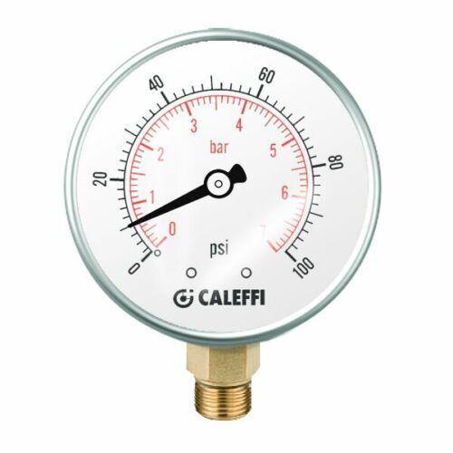 """2/"""" Dual Size ... 0-100 PSI Caleffi AutoFill 5350 Series Valves Pressure Gauge"""