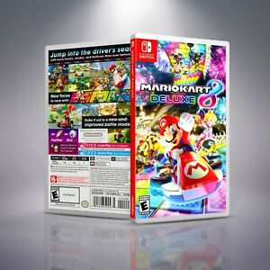 Mario Kart 8 Deluxe - Replacement Nintendo Switch Cover and Case. NO GAME!!