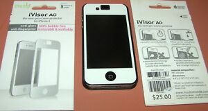moshi iVisor AG next-gen screen protector for iPhone 4/4s, White, Anti-Glare NEW