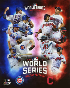 indians cleveland series cubs poster vs chicago posters 8x10 glossy composite matchup