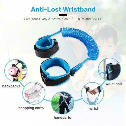 Lost Baby Safety Harness Leash Adjustable Wrist Link Kid Bracelet F8E1