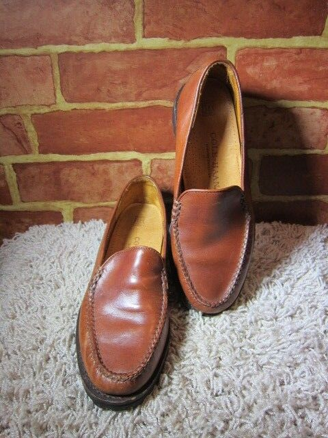 Cole Haan Brown Leather Slip On Loafer shoes Women's Size 7.5AA Memory Flex 2398
