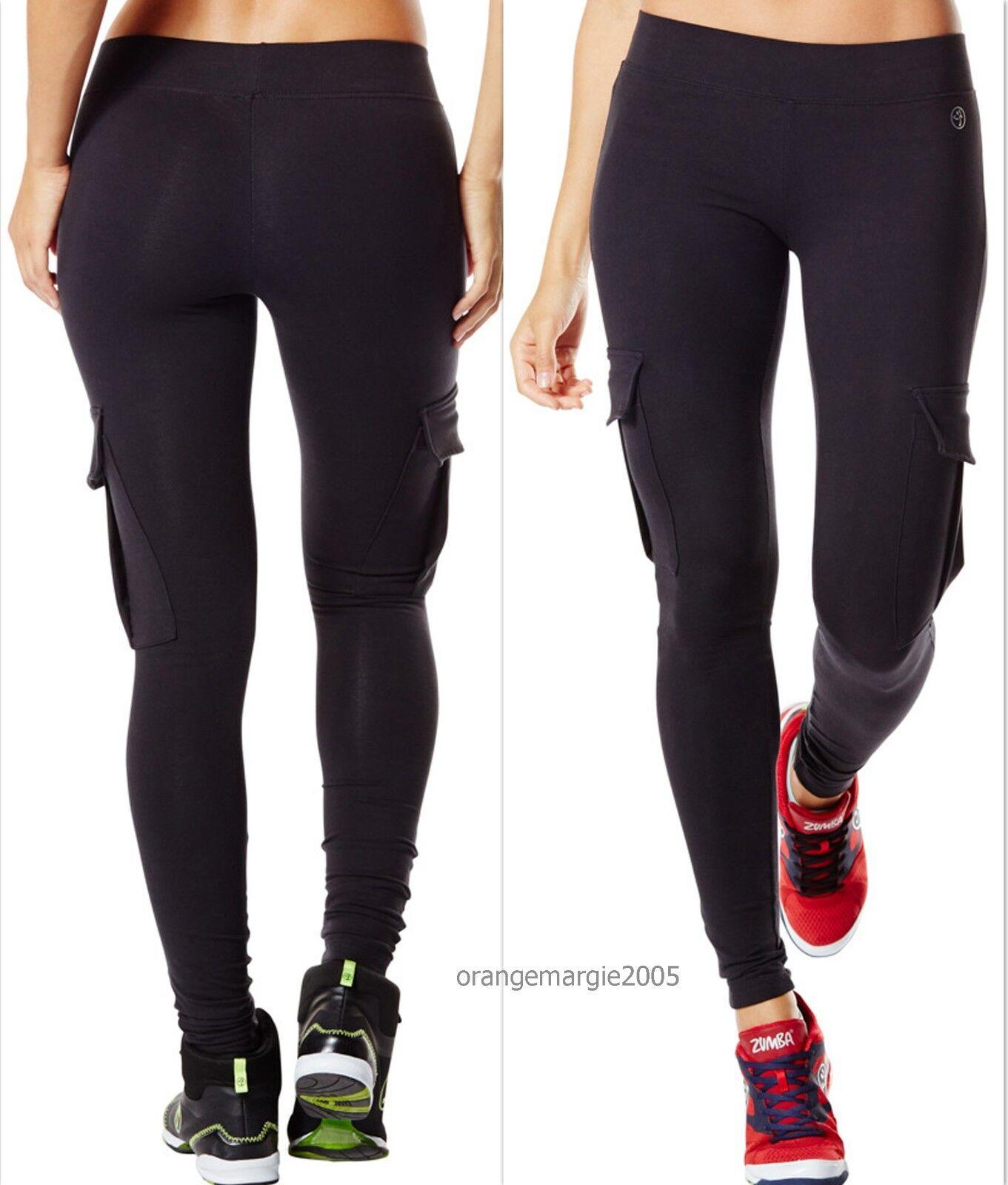 ZUMBA Shake N Break CARGO LEGGINGS w Z-Dri™ SLIMMING  Dance Fitness Yoga  XS S M
