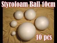 10 pcs of solid Styrofoam Polystyrene Modelling Balls 100mm Sphere 10cm Free P&P