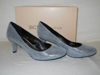 Bcbgeneration Bcbg Generation Womens Gumby Pewter Leather Heels 7.5 M Shoes