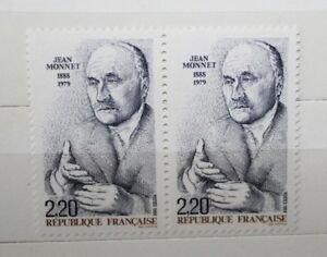 FRANCOBOLLI-STAMPS-FRANCIA-FRANCE-1988-034-JEAN-MONNET-034-NUOVO-MNH-CAT-B