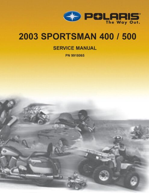 2003 Polaris Sportsman 400 500 Atv Service Repair Manual For Sale Online Ebay