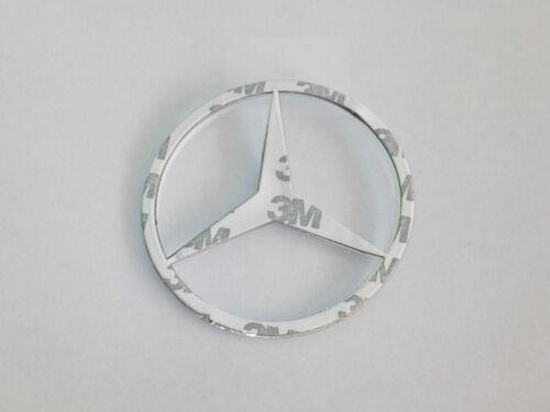 MERCEDES Benz 90mm CROMATO POSTERIORE avvio Badge Emblema Adesivo C E S CLK SLK CLASSE