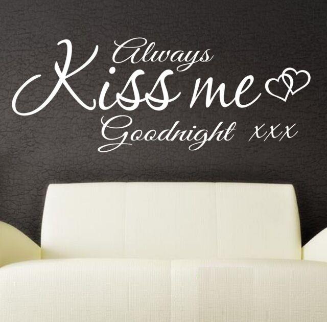 Always Kiss Me Goodnight Wall Decor For