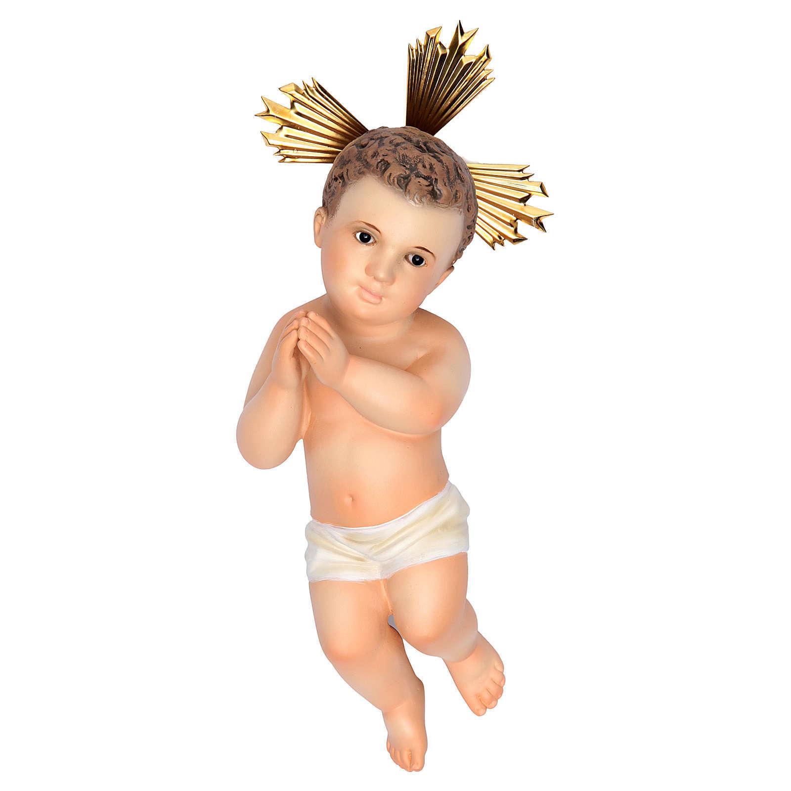 Enfant Jésus 20cm pâte à bois finition fine