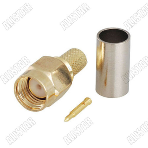 100x SMA Male Plug Attachment For LMR200 Cable RF Connector LMR-200
