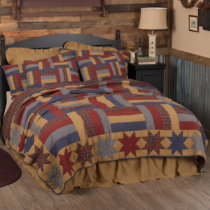 Kindred STARS & BARS(King)FARMHOUSE QUILT-Country Americana-Choose Accessories