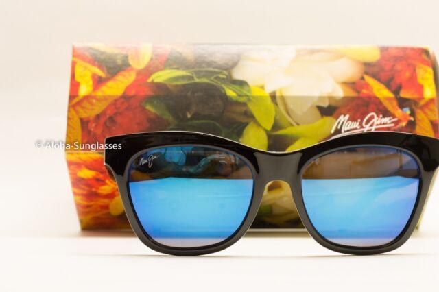 NEW CAT EYE Maui Jim Sunglasses Sweet Leilani Black Blue Hawaii Polarized womens