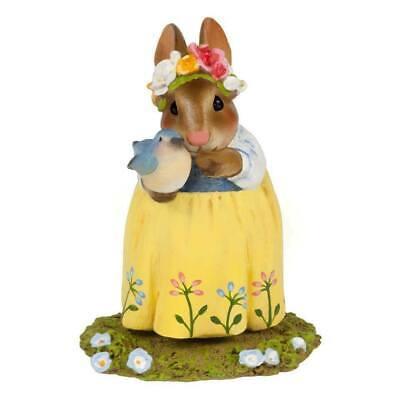 Bonnie Petersen Bunny 2018 WFF# B-27 Wee Forest Folk BLUEBIRD OF HAPPINESS