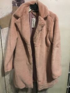 f3f473cab39 SIMPLEE Pink Faux Fur Coat 3/4 Length(lower Hip) SMALL | eBay