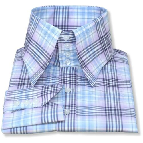 Collo alto Camicia Da Uomo Multi controlli lunga PUNTO Collar 4 pulsanti tall collo Gents