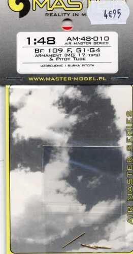Mg17 Tips G-1 /& Pitot Tube 1//48 Master-Model G-4 Bewaffnung Bf-109 F