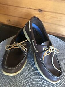 leather sperry boat shoes