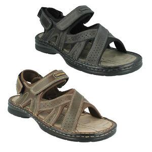 Sandalen Kleidung & Accessoires Ehrlich Northwest Sudan Herren Zehenfrei Freizeit Schwarz Klettverschluss Leder SchöN Und Charmant