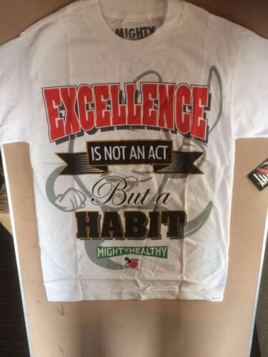 Mighty Healthy excellence t shirt white 796