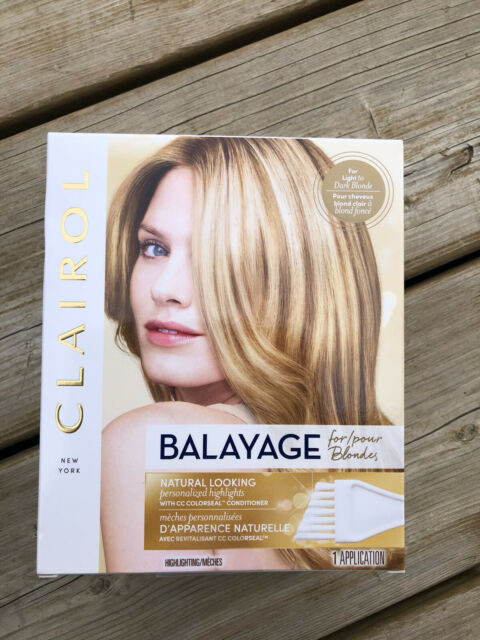 BALAYAGE Highlights for BLONDES light to dark blonde NIB w/ Conditioner Clairol