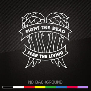 The Walking Dead Decal Sticker | DIXON | Fight the Dead | ZOMBIE | Choose Color