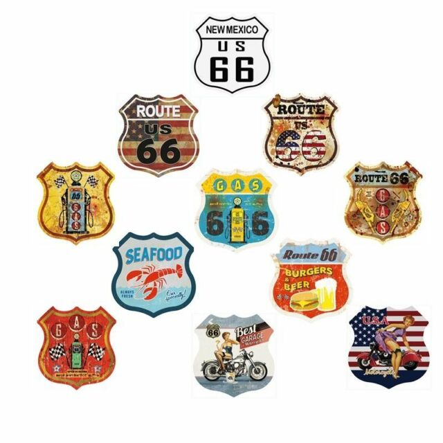 Route 66 Plate Vintage Metal Tin Signs Gas Garage Decor Art Wall Poster 30*30CM
