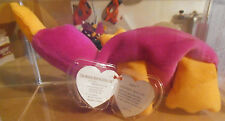 Authenticated Ty MWMT-MQ INDONESIAN Patti - Fuchsia - Beanie Baby EXTREMELY RARE