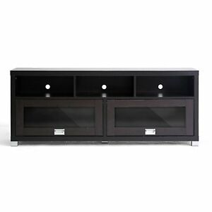 Wood Tv Cabinet Stand Furniture Rack Console 2 Doors 3