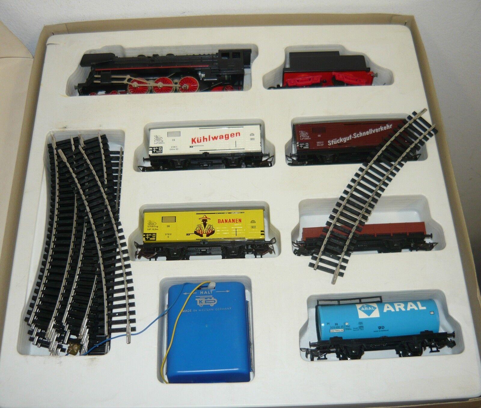 KD, Kaufhausbahn-Set mit Lok, Tender, 5 GüWa,Oval & Reg.,ca. 60er J,H0,gebr.&OVP