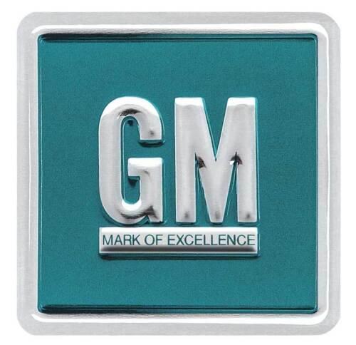 Aqua Embossed 1964-67 GM Mark Of Excellence Emblem Door Decal