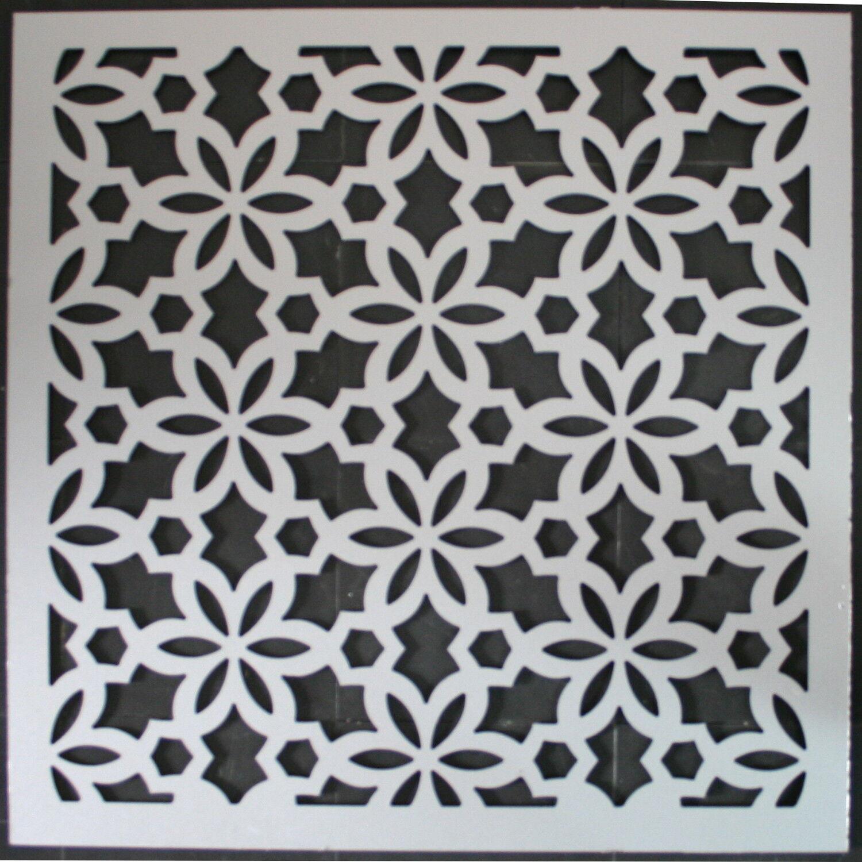 Laserschnitt orientalischer Stil Aluverbundplatte silber Lasercut Ornament