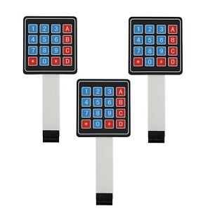 3-PCS-4x4-Matrix-Array-16-Key-Membrane-Switch-Keypad-Arduino-AVR-PI-C-USA-SHIP