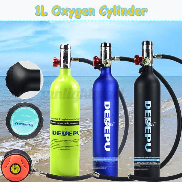 DE 1L Tauchluftbehälter Tauchflasche Atemregler Zylinder Unterwasseratem 1X
