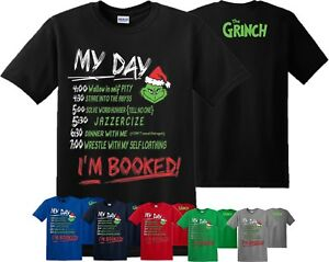 1e6f91f29 The Grinch Movie T-Shirt I Am Booked That Stole Christmas Gift Adult ...