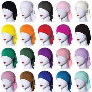 Hot-Muslim-Islamic-Women-s-Lace-Stretchy-Under-Scarf-Bonnet-Cap-Hijab-Head-wear