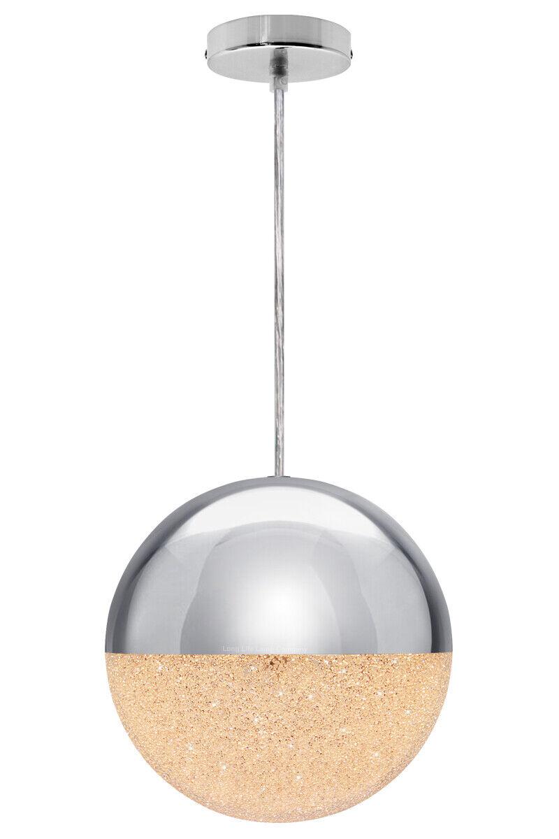 Modern Led Glass Globe Pendant Shade Ceiling Hanging Shimmer Ball Light M0100 Ebay