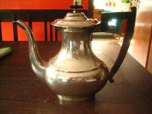große antike Art Deco Teekanne Kaffeekanne Silberkanne silber pl Sheffield