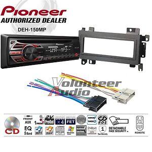 pioneer car radio stereo cd player dash install mounting kit wiring harness ebay