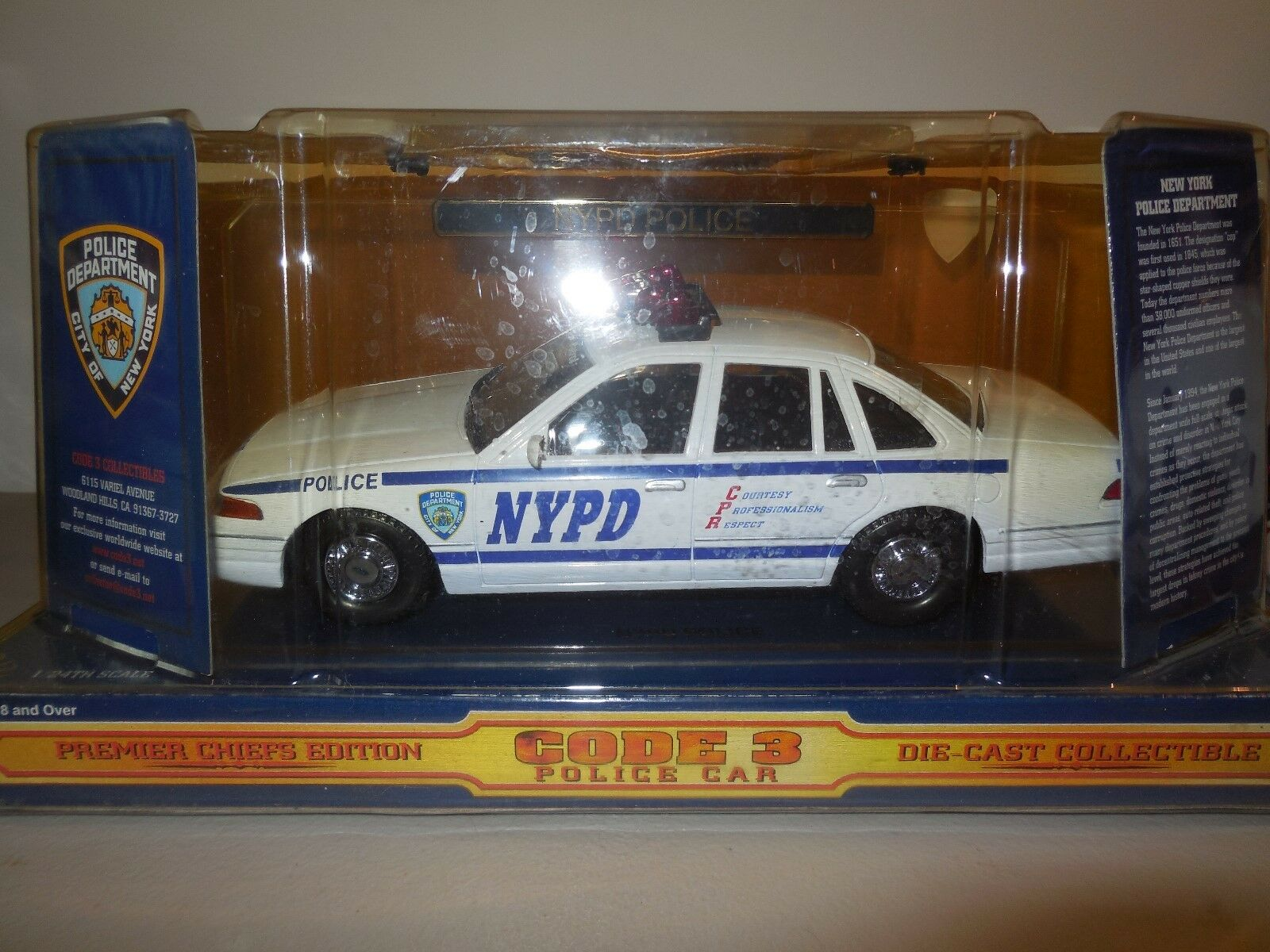 Nypd code 3 police car with patch patch patch ford crown victoria 40cfdb