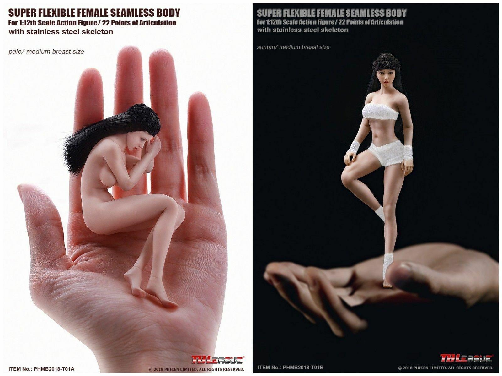 TBLeague 1 12th Super-Flexible Female Seamless Body Pale Skin PHMB2018-T01A Doll