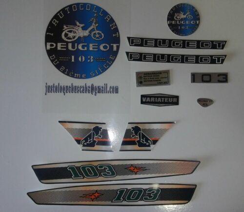 Autocollant Peugeot 103 MVL nouveau design couleur Fait votre choix 13 Couleur