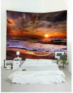 Sea-Sunset-Scenery-Tapestry-Room-Wall-Hanging-Art-Landscape-Print-Tapestry-Decor