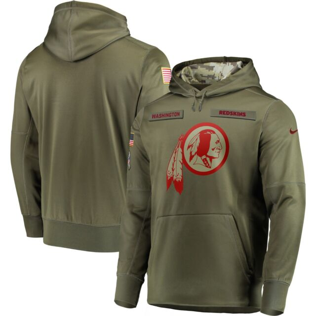 the best attitude d04ef dd3ee Washington Redskins 2018 Nike Olive Salute to Service Sideline Therma-Fit  Hoodie
