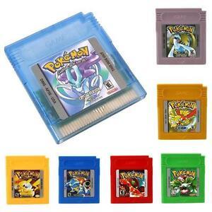 Tarjetas De Juegos Gameboy Pokemon Para Nintendo Gb Gbc Gba Navidad