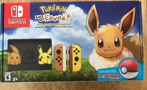 Nintendo Switch Pikachu Eevee Edition With Pokemon Let S Go Eevee