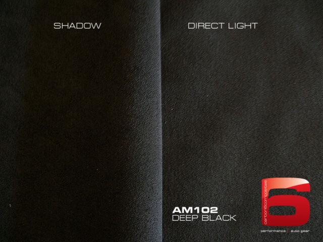 "Deep Black  Alcantara / Automotive Suede 36"" x 56"" (1.0mm thick) Genuine"