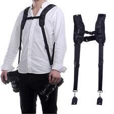 Pro Nice Double Shoulder Sling Belt Strap for DSLR Camera Canon Nikon Sony WON