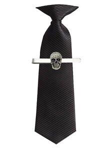 SUGAR-SKULL-Peltro-Emblema-sul-Fermacravatta-barra-di-scorrimento-gioielli-Tuta-codets-321